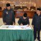 Penandatanganan SK dan Berita Acara persetujuan bersama Kepala Daerah dan Pimpinan DPRD tentang Peraturan Daerah Kabupaten Langkat